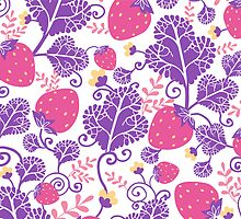 Yummy strawberries pattern by oksancia