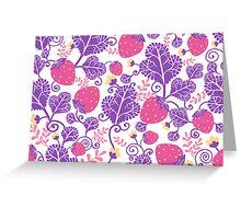 Yummy strawberries pattern Greeting Card