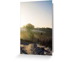 Winter Sunrise at Warter Greeting Card