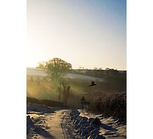 Winter Sunrise at Warter Photographic Print