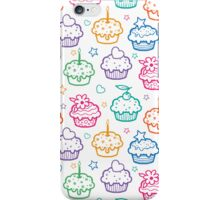 Colorful doodle cupcakes pattern iPhone Case/Skin