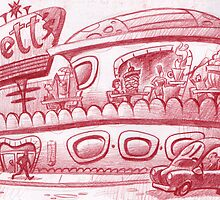 Bett's diner by Mike Cressy