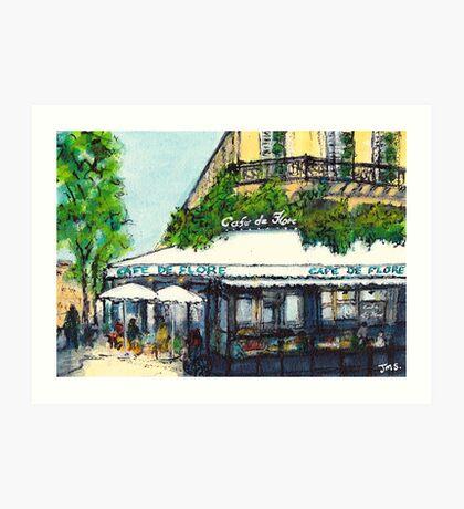 Cafe de Flore, Paris Art Print