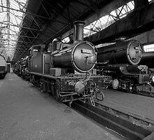 Didcot Railway Yard B&W II by Simon Lawrence