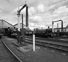 Didcot Railway Yard B&W III by Simon Lawrence