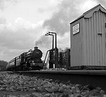 Full Steam Ahead B&W by Simon Lawrence