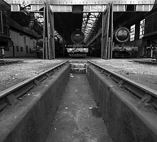 Didcot Railway Centre In B&W by Simon Lawrence