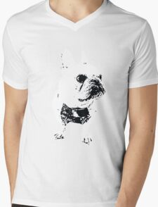 GEORGE the Korean-American French Bulldog Mens V-Neck T-Shirt