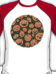 Fun Halloween pumpkins pattern T-Shirt