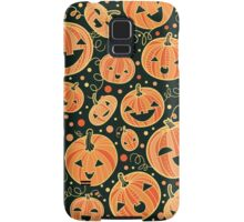 Fun Halloween pumpkins pattern Samsung Galaxy Case/Skin