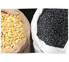 Black Beans and Yellow Corn Poster