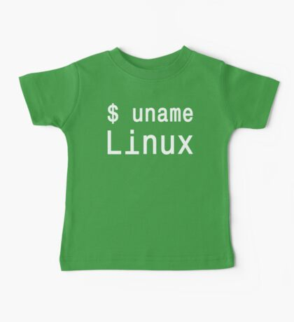 uname Linux - The only true answer - White on Black Design Baby Tee