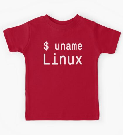 uname Linux - The only true answer - White on Black Design Kids Tee
