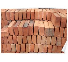 Stacked Adobe Bricks Poster