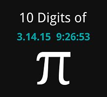 10 Digits of Pi - Black Geek T-Shirt for Pi Day 2015  Unisex T-Shirt