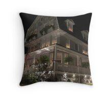 Shadowy Beach House Throw Pillow