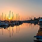 Boats at sunset by Kerto Koppel-Catlin