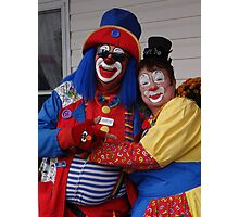 Mr and Mrs Clown Photographic Print
