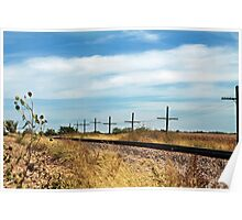 Kansas Railroad Landscape Poster