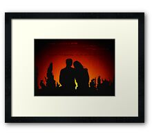 The skyline was beautiful on fire Framed Print