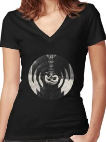 Circle Camera. Women's Fitted V-Neck T-Shirt