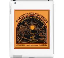 MEXICAN PIPELINE PUERTO ESCONDIDO iPad Case/Skin