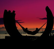 Sunset Beach Relaxation by Brian Chase