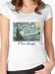 Vincent Van Gogh – Starry Night Women's Fitted Scoop T-Shirt