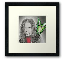 Dime (Lime) Framed Print