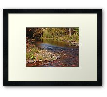 Autumn at the Esopus Creek Framed Print
