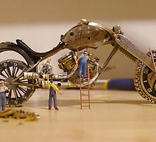 Diorama1 : Watch Parts Motorcycles by OfficialWPM