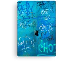 Blue Punk Style Street Graffiti Canvas Print