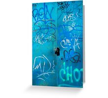 Blue Punk Style Street Graffiti Greeting Card
