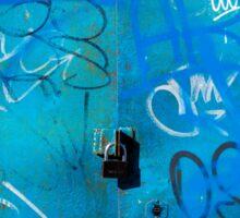 Blue Punk Style Street Graffiti Sticker