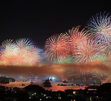 Sydney Harbour Fireworks by Mike Valigore