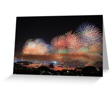Sydney Harbour Fireworks Greeting Card