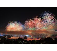 Sydney Harbour Fireworks Photographic Print