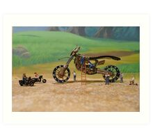 Diorama11 : Watch Parts Motorcycles Art Print