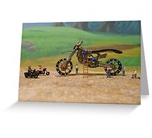 Diorama11 : Watch Parts Motorcycles Greeting Card