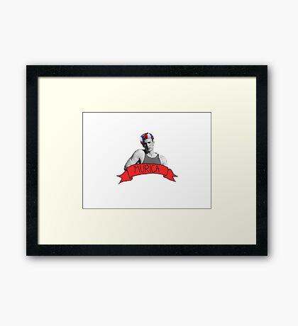 captain 'murica Framed Print
