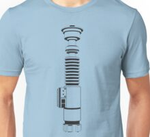 Luke Skywalkers Lightsaber - Vertical - Transparent Unisex T-Shirt