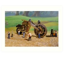 Diorama17 : Watch Parts Motorcycles Art Print