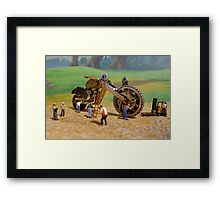 Diorama17 : Watch Parts Motorcycles Framed Print
