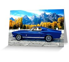 1967 Shelby Cobra Mustang GT 500 Greeting Card