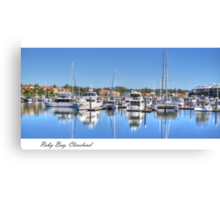 """""""Raby Reflections"""", Raby Bay, Cleveland, Australia Canvas Print"""