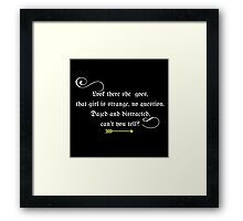 Belle #2 Black Framed Print