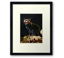 Black Cat - Killing of a Witch Framed Print