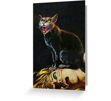 Black Cat - Killing of a Witch Greeting Card
