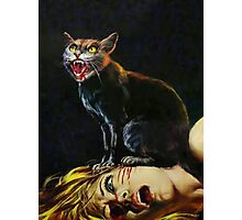Black Cat - Killing of a Witch Photographic Print