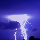 Cloud's hand in the lightning by AbhishekAnand